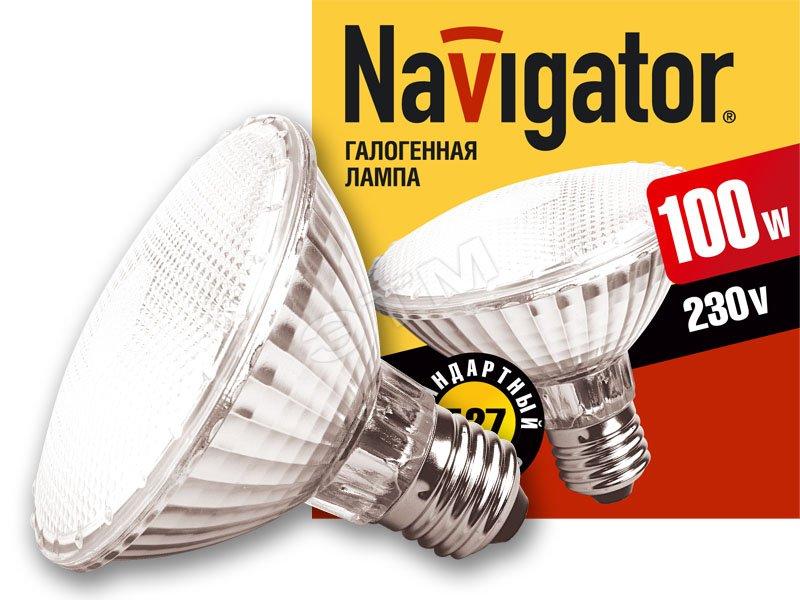 Лампа галогенная КГВ 100вт 220в E27 95мм (94230 NH-PAR30) Navigator купить цена