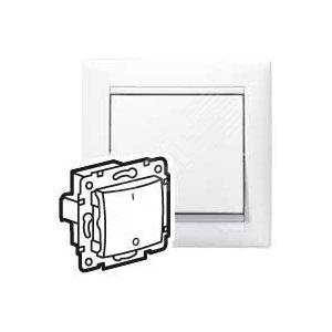 VALENA Выключатель 2 полюса в рамку белый