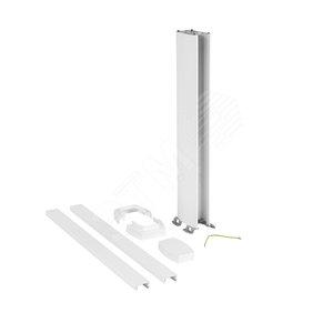 Snap-On мини-колонна пластиковая с крышкой из пластика 2 секции, высота 0,68 метра, цвет белый