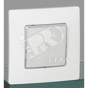 ETIKA Кнопка НО/НЗ с подсветкой белая 6АХ  безвинтовые зажимы