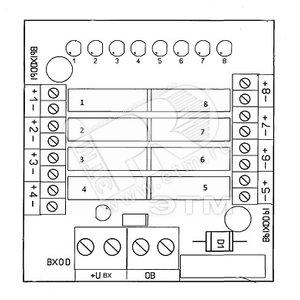 Блок коммутационный защитный БЗК-8