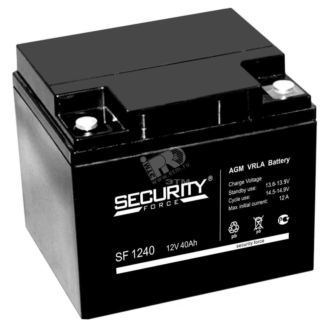 Аккумулятор SF 12В / 40 А/ч (АКБ SF 1240)