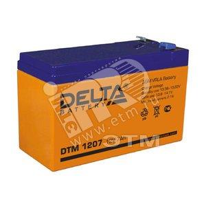 Аккумулятор DTM 12В/7.2 А/ч (АКБ DTM 1207)