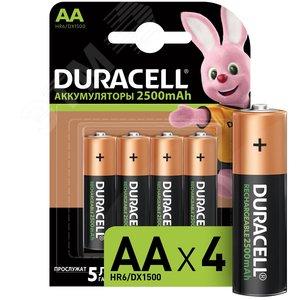 Аккум. Duracell HR6-4BL 2400mAh/2500mAh предзаряженный (4/40/15000) (Б0014863)