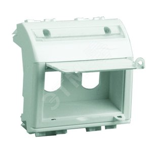 Адаптер для 2 оптоволоконныx разъемов белый 2 модуля