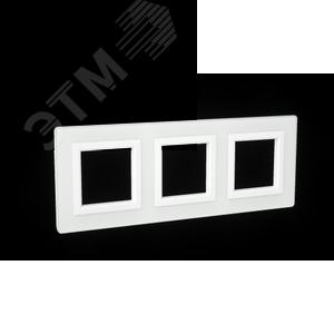 Рамка из натурального стекла, ''Avanti'', белая, 6 модулей