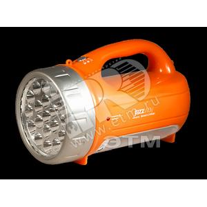 Фонарь светодиодный LED Accu7-L19/L21 аккумуляторный 2 зарядных устройства (220В и 12В) оранжевый