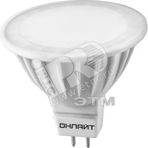 Лампа светодиодная LED 5вт 230в GU5.3 белый ОНЛАЙТ (71638 ОLL-MR16)