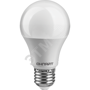 Лампа светодиодная LED 10вт E27 теплый PROMO ОНЛАЙТ (82910 OLL-A55)