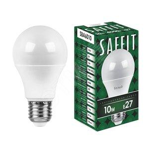 Лампа светодиодная LED 10вт Е27 белый (SBA6010)