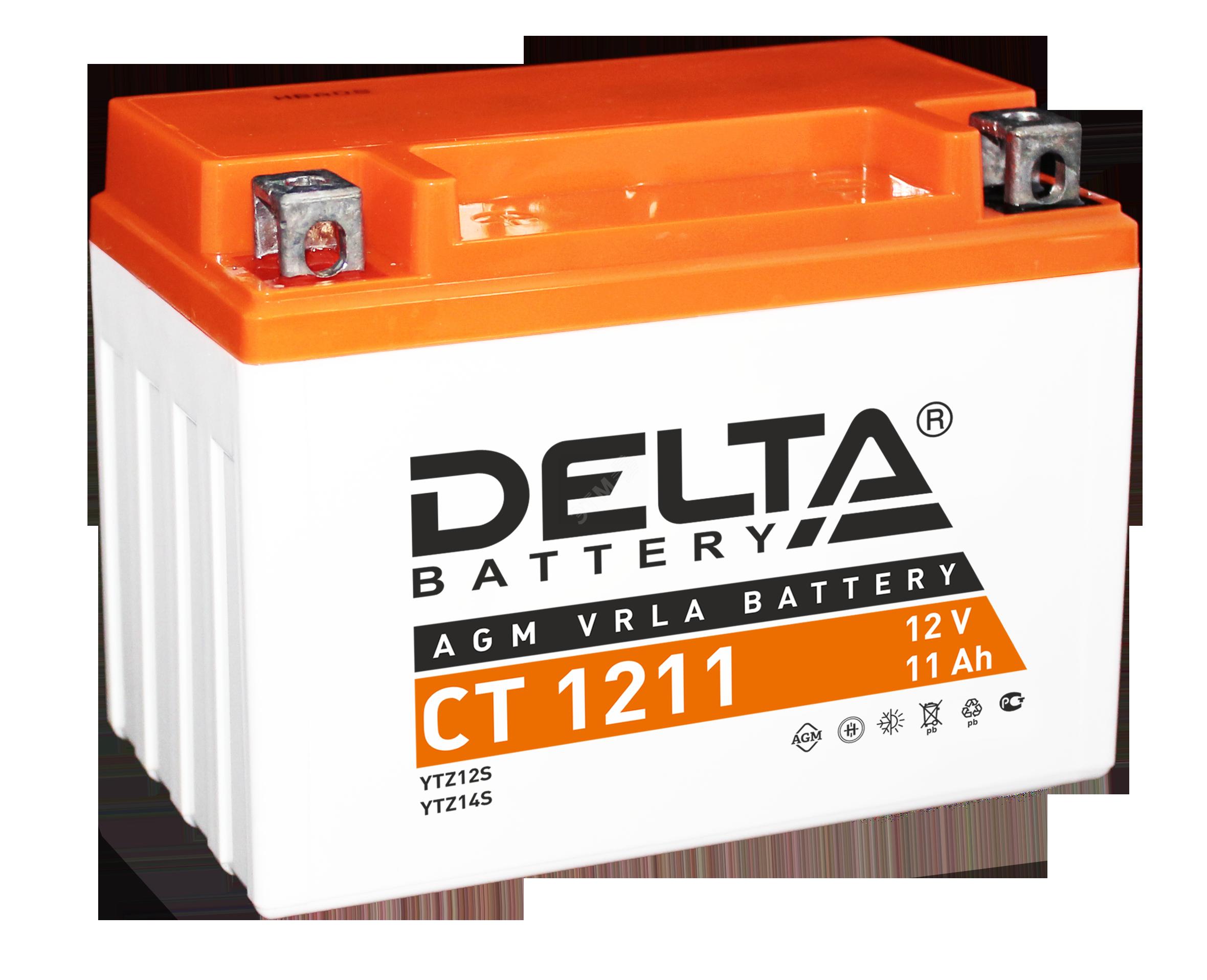 Аккумулятор МОТО Delta CT 12В/12 А/ч (АКБ CT 1212) (АКБ CT 1212 ...