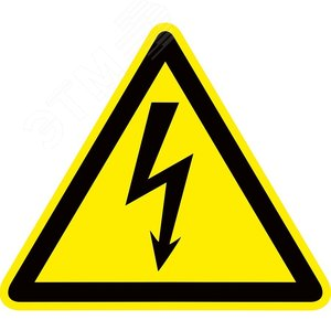 Знак пластик Опасность поражения электрическим током (Молния) W08 (100х100мм) PROxima