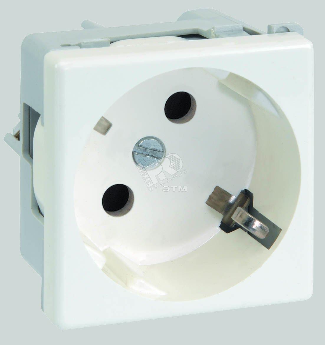 Connect Розетка с заземлением 16А 250В 45х45мм винтовые клеммы SC белый  (K01-9) da06a99e728